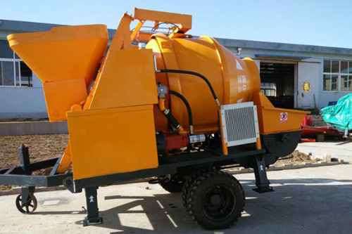 10m3/h electric concrete mixer pump