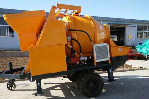 10m3/h electric concrete mixer pump