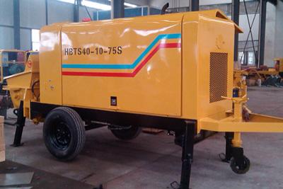 40m3/h small electric concrete pump