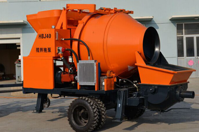 40m3/h electric concrete mixer pump