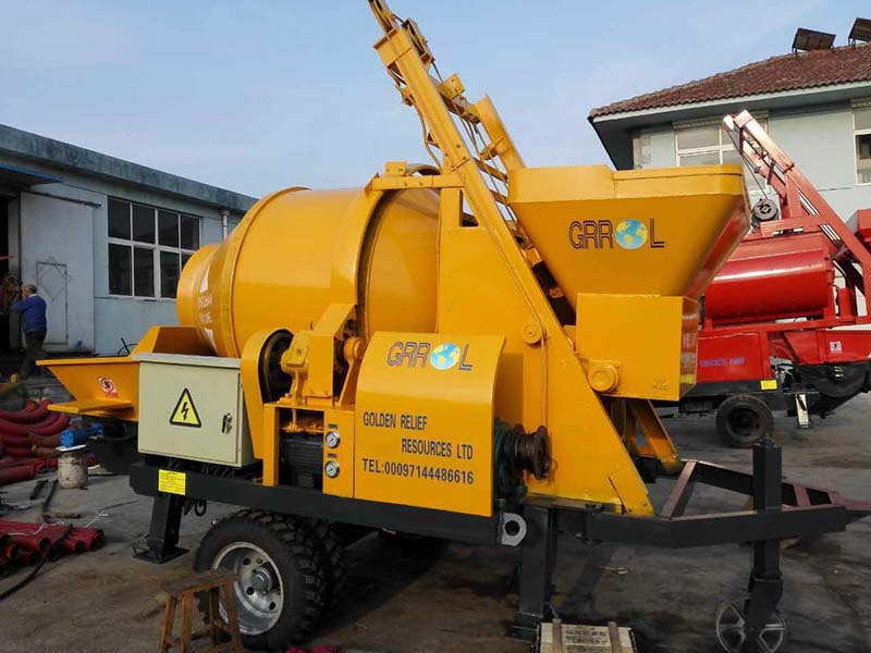 ABJZ40D concrete mixer pump to Somalia