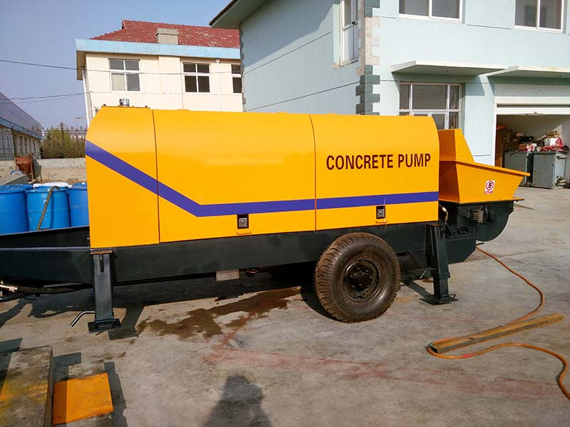 ABT60D concrete mixer pump exported to Guinea