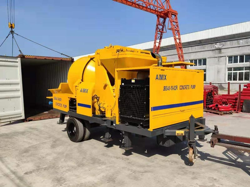Aimix ABJZ40C diesel concrete mixer pump to Jamaica