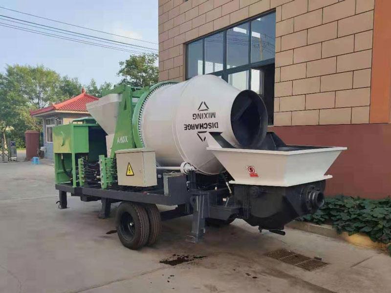 Aimix ABJZ40C diesel concrete mixer pump to Philippines
