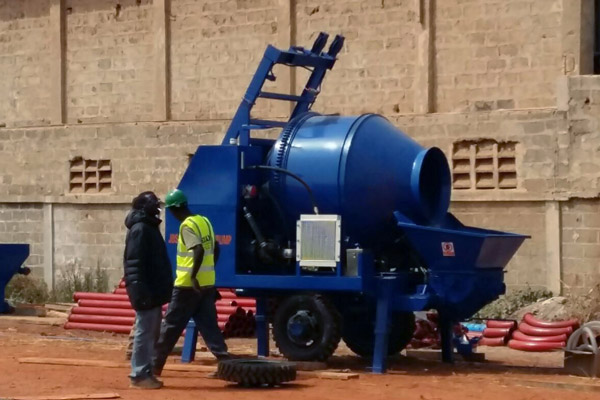 Aimix concrete mixer pump in Senegal