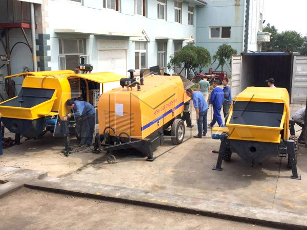 Aimix concrete pump exported to Uzbekistan