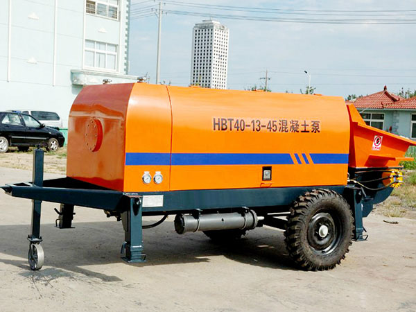 HBT small portable concrete pump price