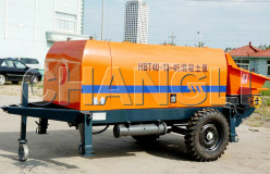 HBT trailer concrete pump