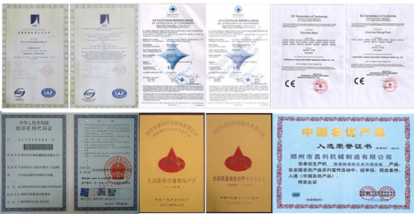 certificate of Changli Machinery