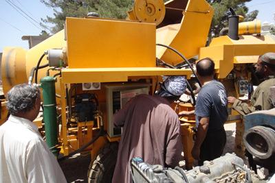 concrete mixer pump exported to Pakistan