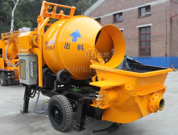 concrete mixer pump picture