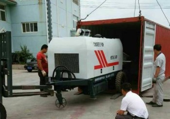 Changli Concrete Pump was Exported to Houston