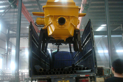concrete pump exported to Nigeria