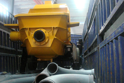 concrete pump to be exported