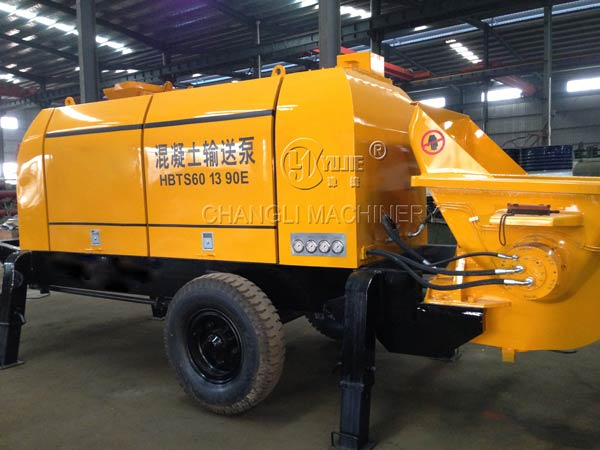 concrete trailer pump images