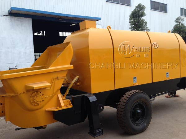 concrete trailer pump pictures