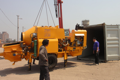 diesel concrete mixer pump exported to Guinea