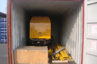 exported concrete pump package