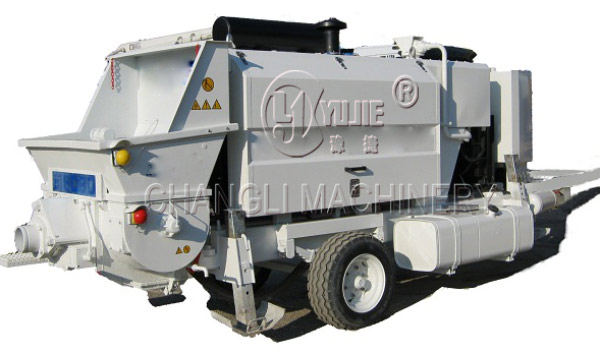 line concrete pump