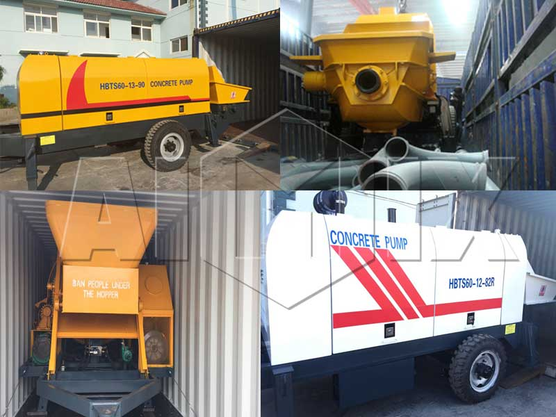 diesel concrete pump exported