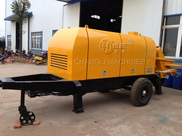 trailer concrete pump image