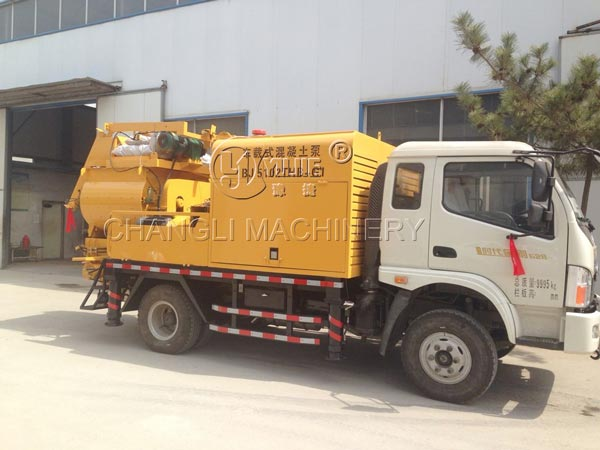 truck mounted concrete pumps