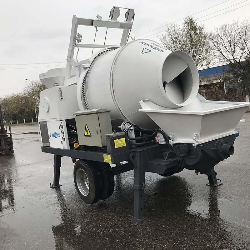 ABJZ30C diesel concrete pump with mixer