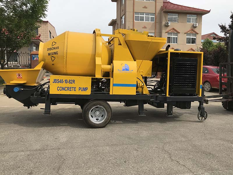 ABJZ40C diesel concrete mixer and pump