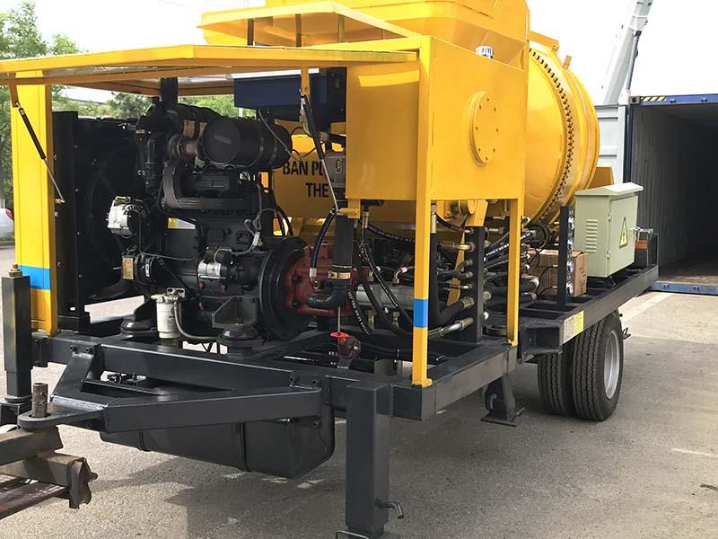 ABJZ40C diesel concrete pump with mixer Philippines