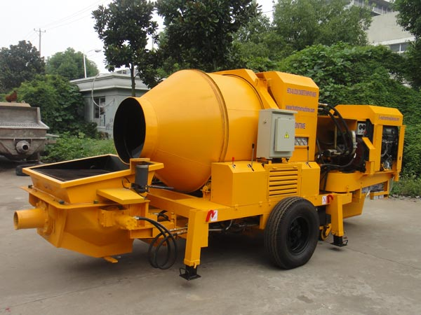 JB40R diesel concrete mixer and pump