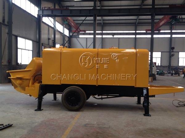 concrete pump trailer image