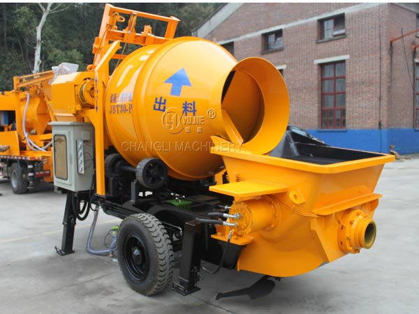 mobiel concrete mixer with pump image