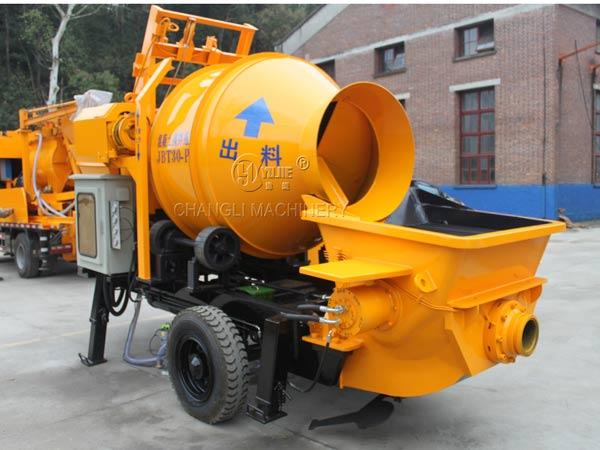 mobiel concrete mixer with pump image