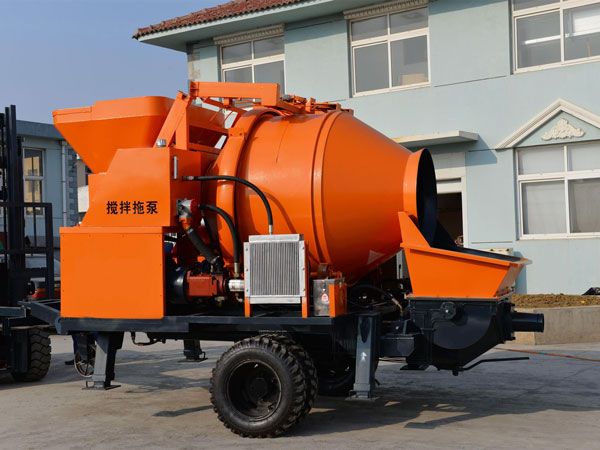 mobile concrete mixer with pump price