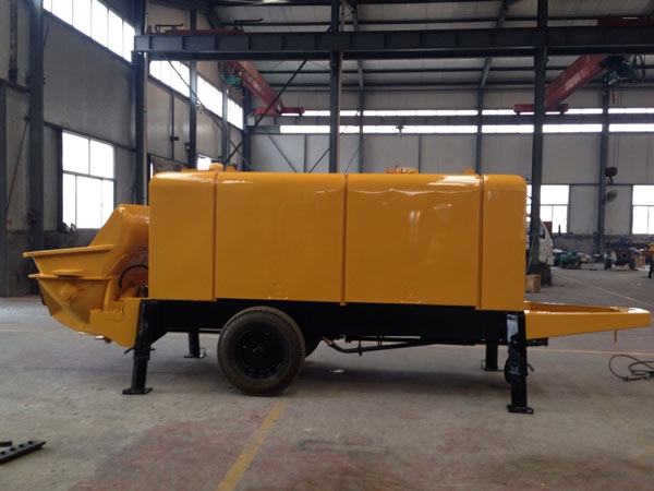 mobile concrete trailer pump