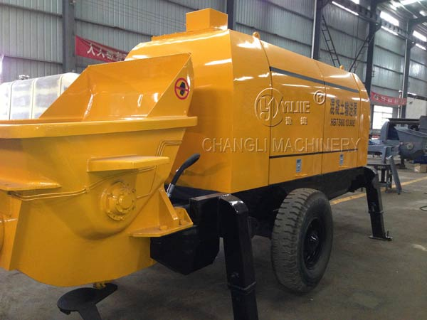 portable concrete pump picture