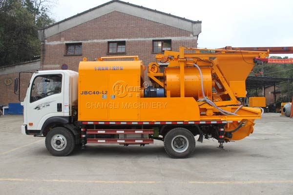truck mounted concrete pump picture
