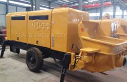 mobile concrete trailer pumps
