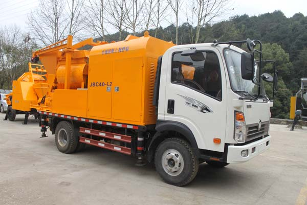 truck mounted cement pump