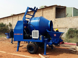 Our Concrete Mixer Pump was Sent to Senegal