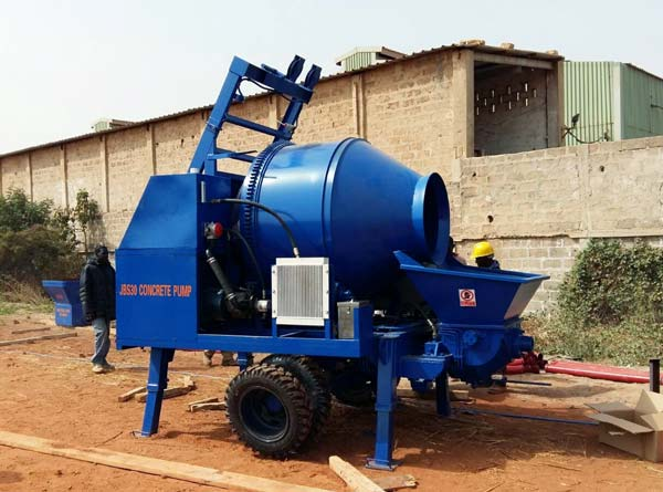 concrete mixer and pumps