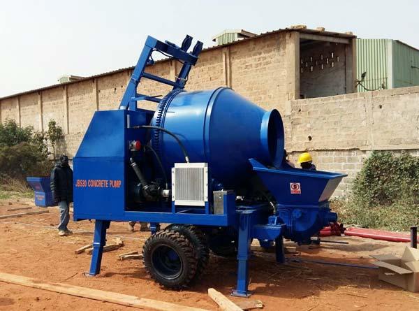 concrete mixer and pumps