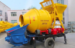 JBT concrete trailer pumps