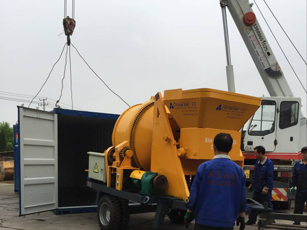 JBS30 concrete mixer and pump delivery