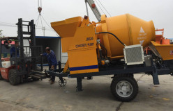 JBS30 concrete mixer with pump was sent to Sierra Leone