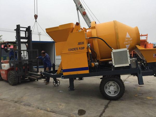 JBS30 concrete mixer with pump was sent to Sierra Leone