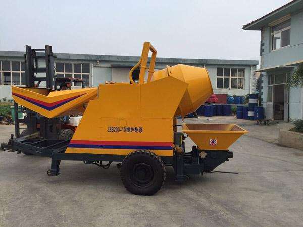 JBS10 electric concrete pump and mixer