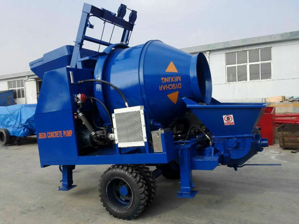 JBS30 electric concrete pump with mixer