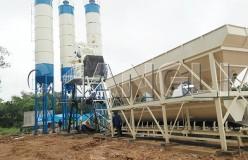 HZS stationary concrete batching plant