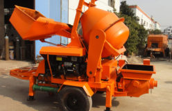 Aimix concrete pump with mixer